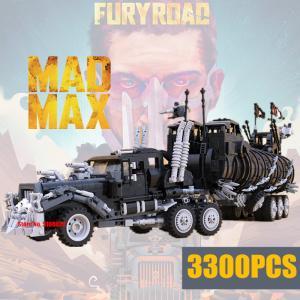 レゴ互換品 マッドマックス デスロード ウォーリグ トラック 軍用トレーラー 全長72cm ブロック3323ピース ltandpjapan