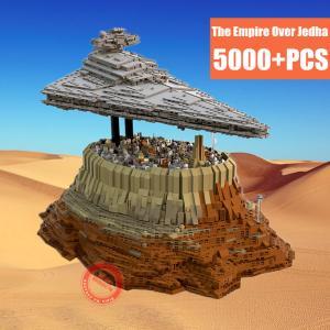 レゴ互換品 インペリアル・スター・デストロイヤー スターウォーズ 宇宙船 宇宙戦艦 ジオラマ 台座付属 サイズ50cm ブロック5000+ピース ltandpjapan