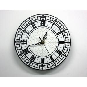 ビッグベン ウェストミンスターウォールクロック 25cm 英国風掛け時計 連続秒針 電池式 ltandpjapan