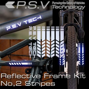 リフレクティブフレームキット No,2 ストラプス ホワイト 自転車フレーム用リフレクターキット 反射して夜間や悪天候での視認性を改善|ltandpjapan