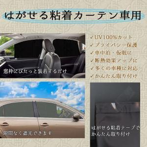 はがせる粘着カーテン車用 取り外し可能粘着テープ貼付 プライバシー保護 直射日光紫外線対策 遮光生地 (黒, 75x54cm) ltandpjapan