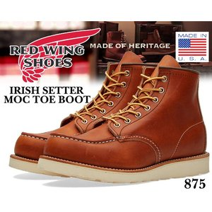 レッドウイング ブーツ 875 REDWING IRISH SETTER MOC TOE BOOT