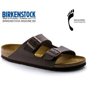 ビルケンシュトック アリゾナ BIRKENSTOCK ARIZONA BS(NARROW FIT)DARK BROWN 051703 ダークブラウン レザーサンダル ダブルストラップ サンダル|ltd-online