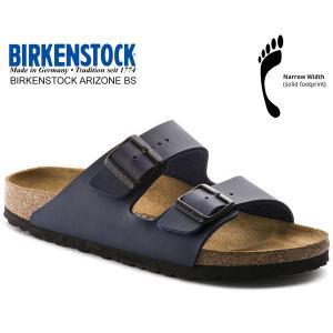 ビルケンシュトック アリゾナ BIRKENSTOCK ARIZONA BS(NARROW FIT) BLUE 0051753 ブルー ネイビー レザーサンダル ダブルストラップ サンダル|ltd-online