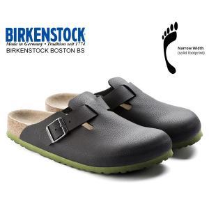 ビルケンシュトック ボストン BIRKENSTOCK BOSTON BS(NARROW FIT) DESERT SOIL BLACK 1006435 レザーサンダル クロッグ サンダル ナローフィット|ltd-online