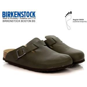 ビルケンシュトック ボストン BIRKENSTOCK BOSTON BS(REGULAR FIT) DESERT SOIL GREEN 1012224 レザーサンダル クロッグ サンダル レギュラーフィット|ltd-online