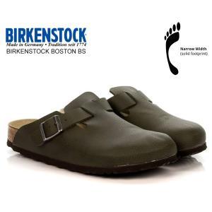 ビルケンシュトック ボストン BIRKENSTOCK BOSTON BS(NARROWR FIT) DESERT SOIL GREEN 1012225 レザーサンダル クロッグ サンダル ナローフィット|ltd-online
