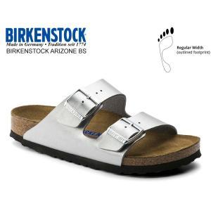 ビルケンシュトック アリゾナ BIRKENSTOCK ARIZONA BS(REGULAR FIT) SILVER 1012282 シルバー レザーサンダル ダブルストラップ サンダル レギュラー|ltd-online