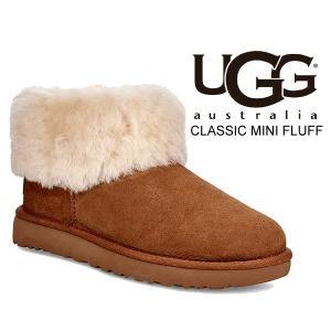 アグ ウィメンズ クラシック ミニ フラッフ ブーツ UGG WOMENS CLASSIC MINI FLUFF CHESTNUT 1106757 チェスナット レディース ツインフェイス シープスキン|ltd-online