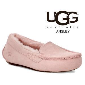 アグ アンスレー レディース ムートン UGG WOMENS ANSLEY PINK CRYSTAL 1106878 モカシン ドライビングシューズ ピンク|ltd-online