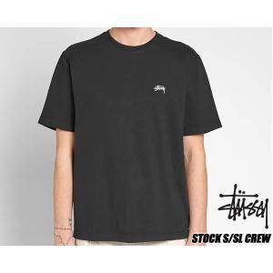 ステューシー Tシャツ STUSSY STOCK S/SL CREW BLACK TEE 1140137 ブラック|ltd-online