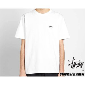 ステューシー Tシャツ STUSSY STOCK S/SL CREW WHITE TEE 1140137 ホワイト|ltd-online