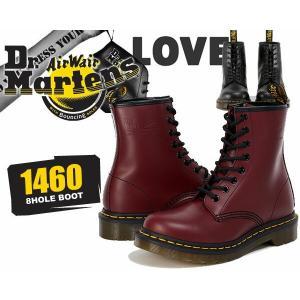 ドクターマーチン 8ホール ブーツ メンズ Dr.Martens 1460 8HOLE BOOT SMOOTH CHERRY RED 11822600 ブーツ チェリーレッド ワーク レースアップブーツ|ltd-online