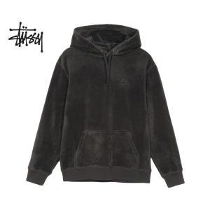 ステューシー Stssy パーカー STUSSY PILE FLEECE HOOD black フリース フーディー フード ブラック 118301 Stssy|ltd-online
