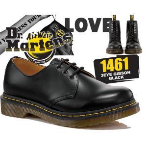 ドクターマーチン ブーツ 3ホール 11838002 Dr.Martens 1461 3EYE GIBSON BLACK 1461 3EYE SHOE 1461Z ギブソン シューズ メンズ|ltd-online
