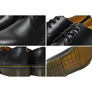 ドクターマーチン ブーツ 3ホール 11838002 Dr.Martens 1461 3EYE GIBSON BLACK 1461 3EYE SHOE 1461Z ギブソン シューズ メンズ|ltd-online|04