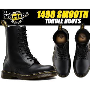 ドクターマーチン 10ホール ブーツ Dr.Martens1490 10HOLE BOOT SMOOTH BLACK ドクターマーチン 1490Z 10EYE BOOTS 11857001|ltd-online