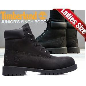 ティンバーランド レディース ブーツ TIMBERLAND JUNIOR'S 6INCH BOOT black/black ウィメンズ 6インチ ブーツ ブラック TIMBERLAND|ltd-online