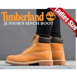 TIMBERLAND JUNIOR'S 6INCH BOOTWHEAT wheat/brn  Tim...