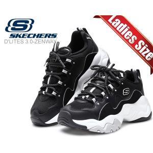 スケッチャーズ ディーライト 3.0 ゼンウェイ SKECHERS D LITES 3.0 ZENWAY BLACK/WHITE レディース ウィメンズ 厚底 スニーカー 12955 bkw DAD SHOES|ltd-online