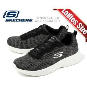 スケッチャーズ ダイナマイト 2.0 SKECHERS DYNAMIGHT 2.0 QUICK CONCEPT BLACK/WHITE 12966 bkw スニーカー レディース クイックコンセプト|ltd-online