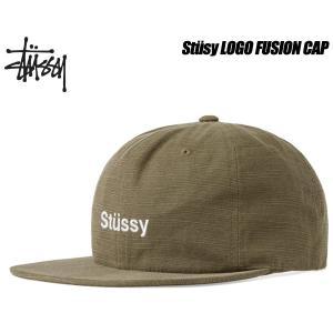ステューシー キャップ STUSSY LOGO FUSION CAP green 6パネル スナップバック 帽子 グリーン オリーブ 131691 Stssy|ltd-online