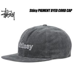 ステューシー キャップ STUSSY PIGMENT DYED CORD CAP black 6パネル スナップバック 帽子 ブラック グレー 131740 Stssy ltd-online