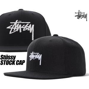 ステューシー キャップ STUSSY STOCK CAP BLACK 131908 ストック キャップ 帽子 スナップバック ブラック|ltd-online