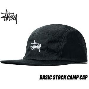 ステューシー キャップ STUSSY BASIC STOCK CAMP CAP BLACK 132919  帽子 5パネル キャンプキャップ ブラック ナイロン ltd-online