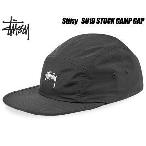 ステューシー キャップ STUSSY SU19 STOCK CAMP CAP BLACK 132932 ブラック 5パネル 帽子 キャンプキャップ ltd-online