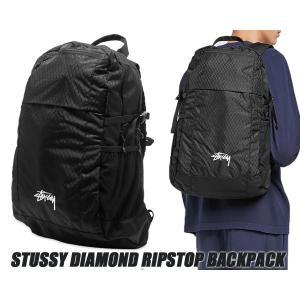 ステューシー バックパック STUSSY DIAMOND RIPSTOP BACKPACK BLACK 133023 ダイヤモンド リップストップ リュック ブラック|ltd-online