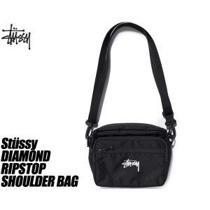 ステューシー ショルダーバック STUSSY DIAMOND RIPSTOP SHOULDER BAG BLACK 134208 ダイヤモンド リップストップ サコッシュ CORDURA|ltd-online