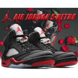 NIKE AIR JORDAN 5 RETRO black/universite red NBA19...