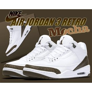 "NIKE AIR JORDAN 3 RETRO ""MOCHA"" white/dark mocha-c..."