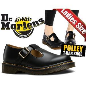 ドクターマーチン レディース Dr.Martens POLLEY SMOOTH BLACKPOLLEY T-BAR SHOE ポーリー レディース カジュアル Tバー ストラップ シューズ Tストラップ|ltd-online