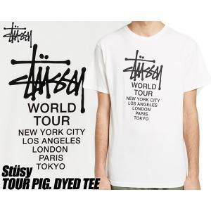ステューシー Tシャツ STUSSY TOUR PIG. DYED TEE natural 1904401 ナチュラル ピグメント加工 ワールドツアー WORLD TOUR|ltd-online