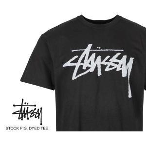 ステューシー Tシャツ STUSSY STOCK PIG. DYED TEE BLACK 1904442 ストック ピグメントダイ ブラック 黒|ltd-online