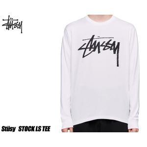 ステューシー LS Tシャツ STUSSY STOCK LS TEE WHITE 1994406-WHT ロンT TEE ホワイト ロングスリーブ|ltd-online