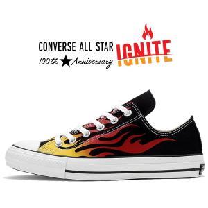 コンバース オールスター 100 オックス CONVERSE ALL STAR 100 IGNT OX 31300380 1cl508 BLACK IGNITE イグナイト スニーカー 100周年 リアクト ファイヤー 炎|ltd-online