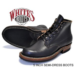 2332W ホワイツ クロムエクセル WHITE'S BOOTS 5 INCH SEMI-DRESS BOOTS blk chrmxl made in U.S.A. メンズ ワーク ブーツ|ltd-online