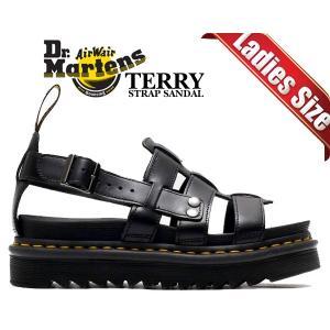ドクターマーチン ストラップ サンダル Dr.Martens TERRY STRAP SANDAL BLACK ZEBRILUS BRANDO 23521001 ZIGGY SOLE ジギーソール グラディエーター 厚底 ltd-online