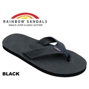 レインボーサンダル RAINBOW SANDALS SINGLE LAYER BLACK 301alts-black レザー サンダル メンズ トングサンダル 海 川 フェス キャンプ アウトドア|ltd-online
