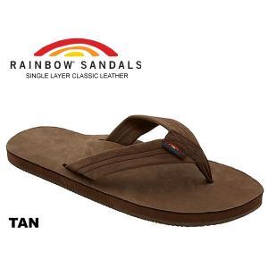 レインボーサンダル RAINBOW SANDALS SINGLE LAYER TAN 301alts タン レザー サンダル メンズ トングサンダル 海 川 フェス キャンプ アウトドア|ltd-online