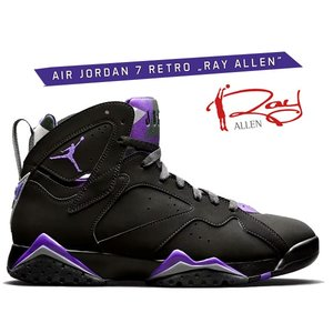 ナイキ エア ジョーダン 7 NIKE AIR JORDAN 7 RETRO RAY ALLEN black/field purple-fir 304775-053 スニーカー レイアレン Milwaukee Bucks AJVII|ltd-online