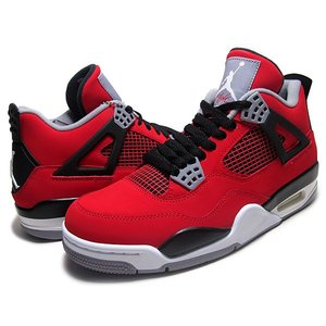 "NIKE AIR JORDAN 4 RETRO ""TORO BRAVO"" f.red/wht-blk..."