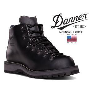 ダナー マウンテンライト 2 DANNER MOUNTAIN LIGHT 2 MADE IN U.S.A. GORE-TEX EEワイズ BLACK 30860 メンズ 防水 ブーツ ゴアテックス ブラック|ltd-online