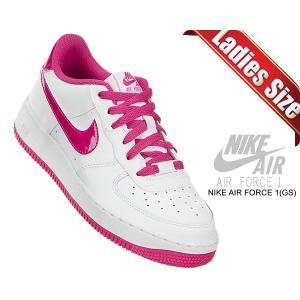 ナイキ エアフォース 1 GS NIKE AIR FORCE 1 (GS) white/hot pink 314219-124 スニーカー ホワイト ピンク|ltd-online