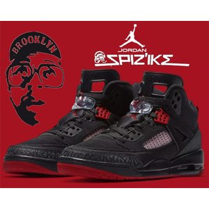 NIKE JORDAN SPIZIKE black/gym red-anthracite      ...