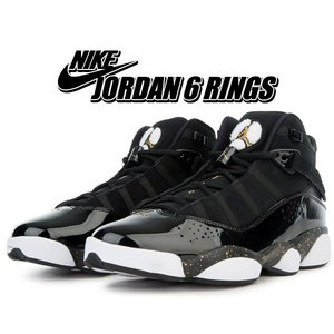 NIKE JORDAN 6 RINGS black/metallic gold-white 3229...