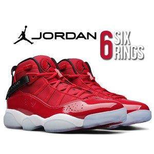 NIKE JORDAN 6 RINGS gym red/black-white 322992-601...